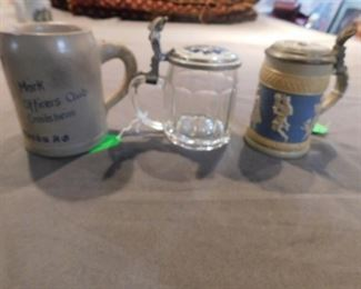 Vintage steins including Villeroy and Boch