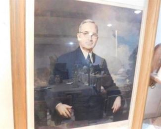 Harry S Truman  Signed painting