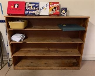 We will be filling this shelving unit up with some neat items, but this shelving unit is for sale!