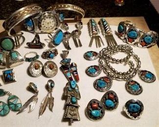 Lookie what we have ~ Navajo jewerly!