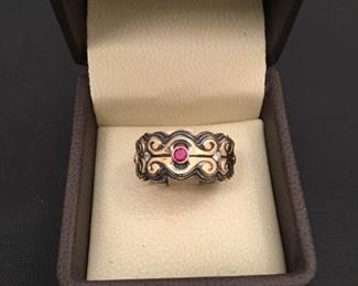 18K and 925 Womens Celtic Design Ring