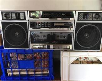 Boombox Sanyo Records RECORDS RECORDS