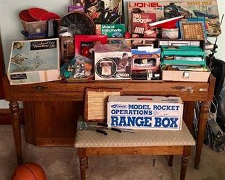 Games Toys Vintage Baldwin Piano Sewing Art Supplies