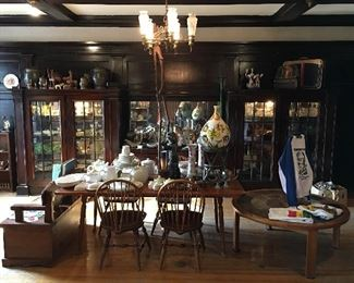 Nichols and Stone Windsor Chairs VINTAGE FURNITURE Drop Leaf Maple Vintage Country Table Danish Modern Coffee Table Country Seat African Artifacts Artwork Sculptures Glassware Lladro
