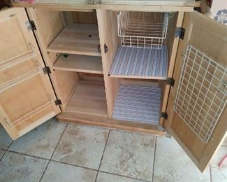 Bakers Dream cart w/ storage, drying racks, and roller extensions.  Great condition.