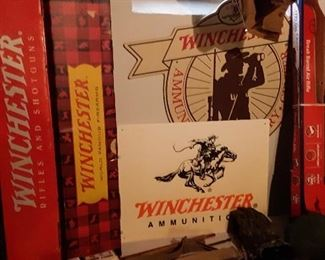 SOME RARE WINCHESTER SIGNS AND GUN BOXES