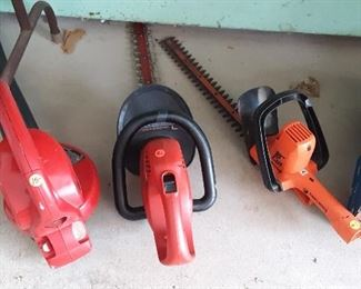 ELEC. BLOWER, HEDGE TRIMMERS