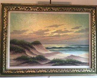 Seascape Oil by Kd. Bruin