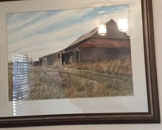 Old Barn watercolor by C.R. Juergens