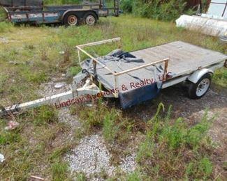 6  Tow Go 8 flatbed trailer built on jet ski trailer