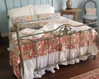 New iron bed from the Sundance catalog, beautiful bedding sets