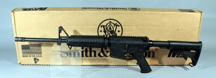 Smith & Wesson M&P 15 5.56 Nato Rifle SN# ST22402, No Mag, With Paperwork, In Box