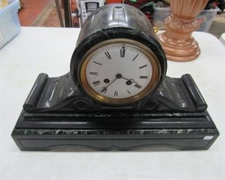 French Scroll Slate/Marble Mantle Clock