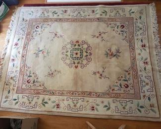 Large plush Persianstyle rug