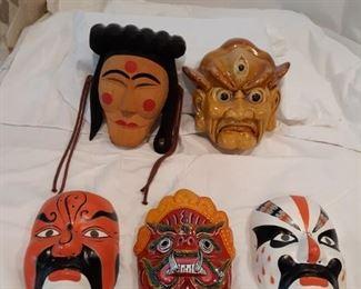 5 wall decor masks
