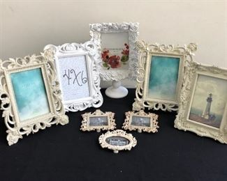 Assorted WhiteOffwhiteCream Colored Frames w Floral Designs