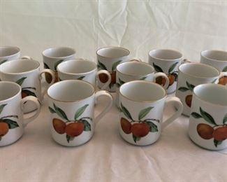 Evesham by Royal Worcester Fine Porcelain Mugs
