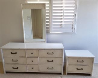Dresser with mirror and matching nightstand