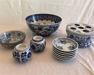Gorgeous Blue White Porcelain Bowls  More