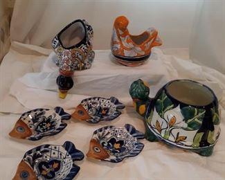 Talavera pottery animals