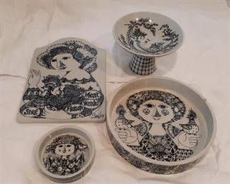 Vintage dishes by Bjrn Wiinblad for Nymolle