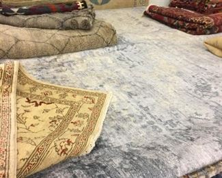 These are Pakistani hand knotted Design Rugs, that we are Liquidating at Below of cost, in different sizes, Design and price Example:  4' X 6' = from $199 5' X 8' = from $399 8' X 10' = from $599  We accept any Reasonable Offers