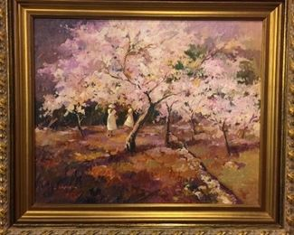 "this painting is from artist Mr. Jose Garcia, Spanish Oil Painting, 40"" x 47""  Retail Price is over $5,000 We accept  any reasonable offer/ Price"