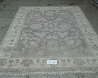 These are Indian hand knotted Design Rugs, that we are Liquidating at Below of cost, in different sizes, Design and price Example Liquidating Price:  4' X 6' = from $199 5' X 8' = from $399 8' X 10' = from $799 We accept  any reasonable offer/ Price