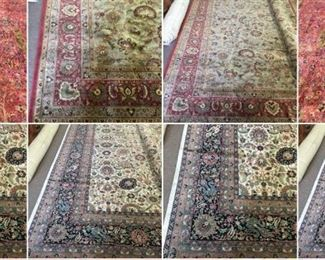 These are Indian  Fine hand knotted Design Rugs, that we are Liquidating at Below of cost, in different sizes, Design and price Example Liquidating Price:  4' X 6' = from $399 5' X 8' = from $599 8' X 10' = from $999 We accept  any reasonable offer/ Price
