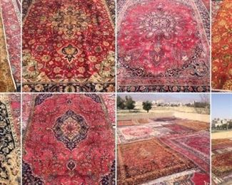 These are Persian hand knotted Design Rugs, that we are Liquidating at Below of cost, in different sizes, Design and price Example Liquidating Price:  4' X 6' = from $199 5' X 8' = from $399 8' X 10' = from $699 We accept  any reasonable offer/ Price