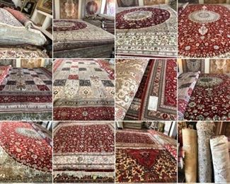 These are Turkish Fine hand knotted Design Silk Rugs, that we are Liquidating at Below of cost, in different sizes, Design and price Example Liquidating Price:  4' X 6' = from $499 5' X 8' = from $999 8' X 10' = from $1999  We accept any Reasonable Offers