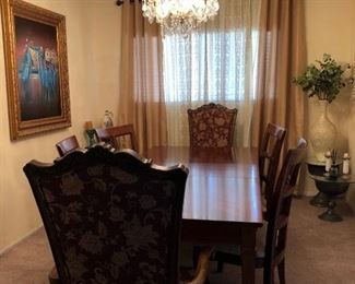 This beautiful hand made furniture mad in Egypt, Natural wood , dining room tables with 6 chairs , all design and made by hand.                                                                                                     we accept any reasonable price / offer