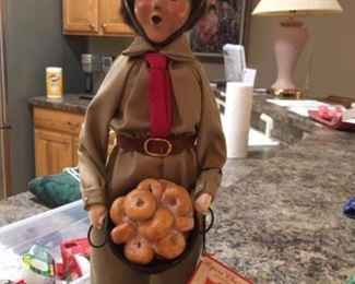 "Byers choice caroler ""Salvation Army Donut Girl"""