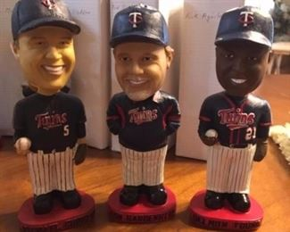"""Minnesota twins"" bobbleheads these were given away as freebies to the first so many people  attending a game very collectible!"