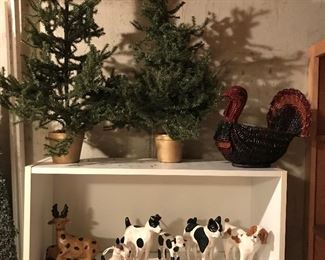 Fun collection of dog figurines (nice reproductions of antique originals).