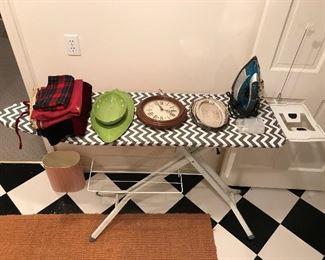 Nice iron and ironing board.