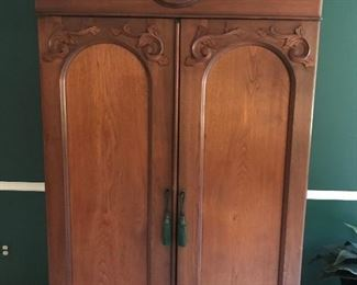 Exceptional armoire of a style and quality rarely seen.