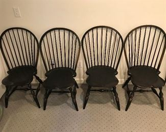 Four exceptional Windsor chairs from The Workshops of David T. Smith.