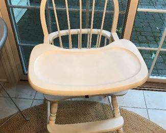 Vintage wood high chair.