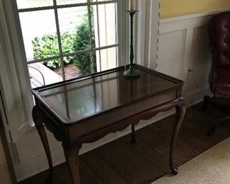 Chippendale-style tea table.