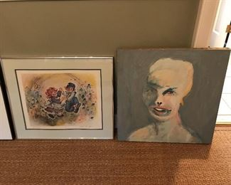 Lots of fun artwork (David Vance painting to the right).