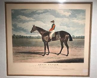 Vintage print of famed thoroughbred horse Bessy Bedlam.