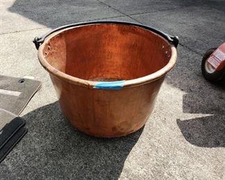 Large Copper Kettle