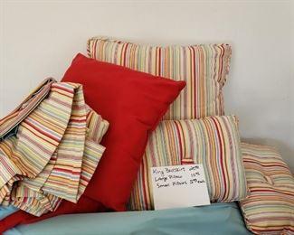 King size bed skirt/pillows- non smoking pet free home
