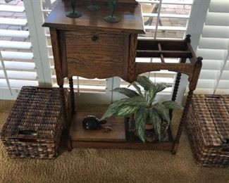 antique umbrella plant stand
