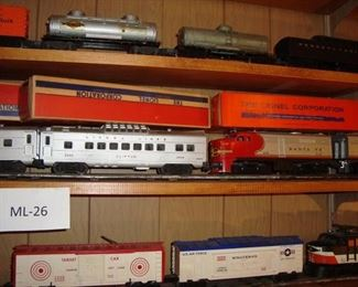 Lionel Santa Fe 218 Engine and Cars