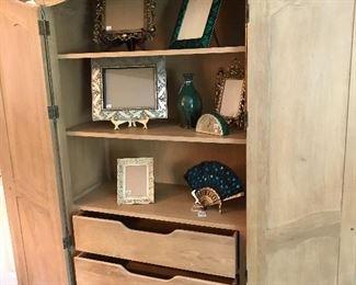 White oak armoire