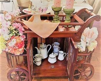 Tea Cart and Decor