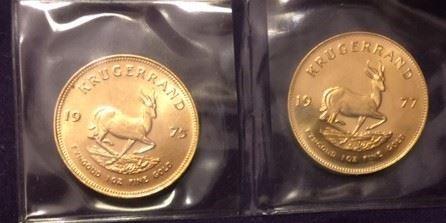 1975 and 1977 Krugerrands