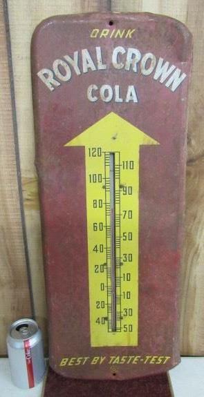 Metal Royal Crown Cola Thermometer